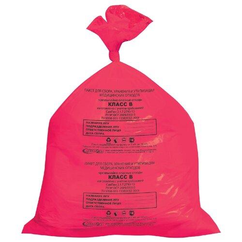Мешки для мусора Аквикомп Класс В 30 л (50 шт.) красный