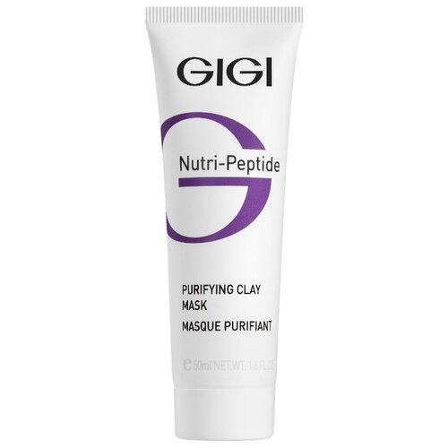 Gigi Nutri-Peptide Purifying Clay Mask Пептидная очищающая глиняная маска для жирной кожи, 50 мл gigi пептидный увлажняющий балансирующий крем для жирной кожи 50 мл gigi nutri peptide