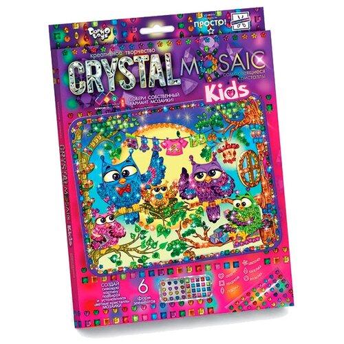Купить Danko Toys Набор алмазной вышивки Crystal Mosaic Совы (CRMk-01-10), Алмазная вышивка