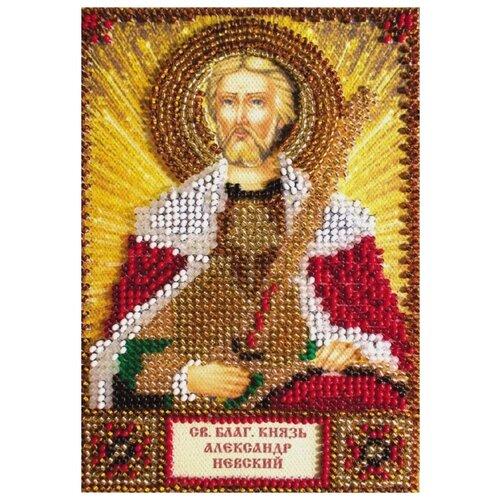 Купить ABRIS ART Набор для вышивания бисером Святой Александр 10 х 15 см (AAM-019), Наборы для вышивания
