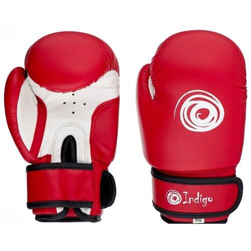 Боксерские перчатки Indigo PS-799 красный 6 oz