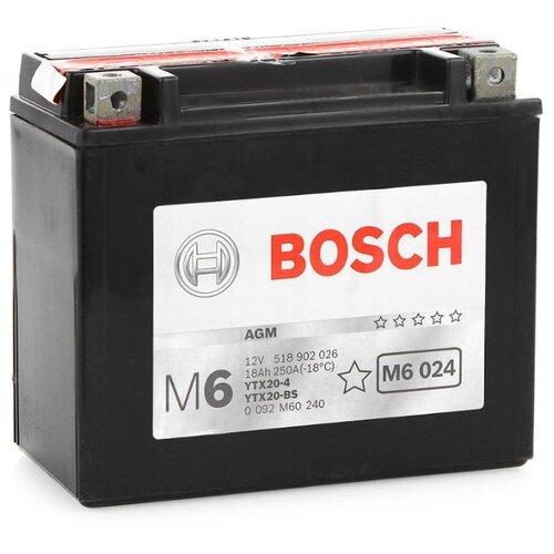 Мото аккумулятор Bosch M6 024 AGM (0 092 M60 240)
