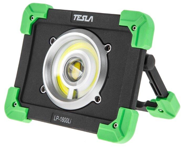 Прожектор Tesla Прожектор противоударный TESLA LP-1800Li, 20Вт, 1800 люмен, powerbank, акк. 6000мАч, 20 Вт