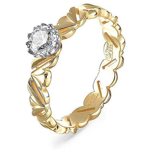 KABAROVSKY Кольцо с 1 бриллиантом из жёлтого золота 1-2501-1000, размер 17 2501 ps2501 nec2501 ps2501 1 page 7