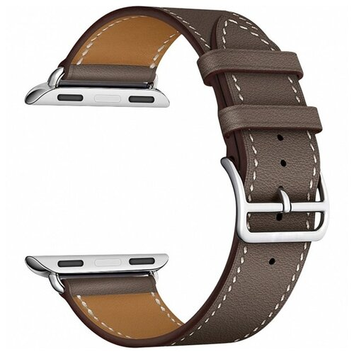 Купить Lyambda Кожаный ремешок Minkar для Apple Watch 38/40 mm gray/brown