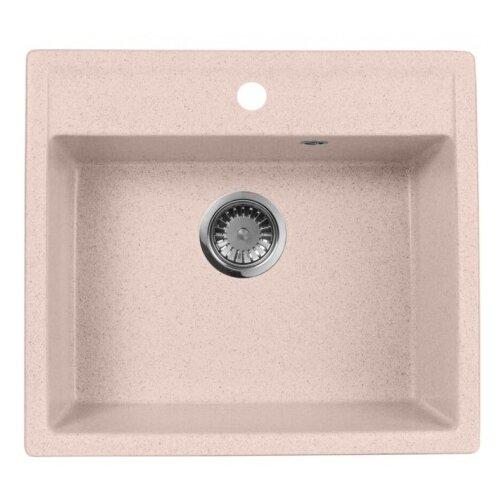 Врезная кухонная мойка 56 см А-Гранит M-56 розовый врезная кухонная мойка 56 см а гранит m 56 синий