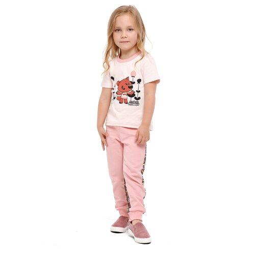 Футболка lucky child Ми-ми-мишки размер 28 (92-98), светло-розовый худи lucky child размер 28 92 98 фиолетовый