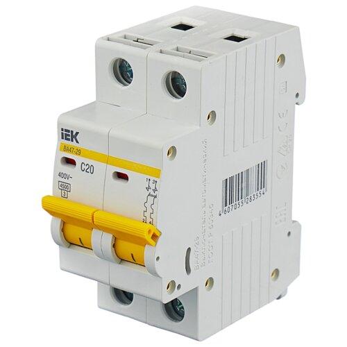 Автоматический выключатель IEK ВА 47-29 2P (C) 4,5kA 20 А