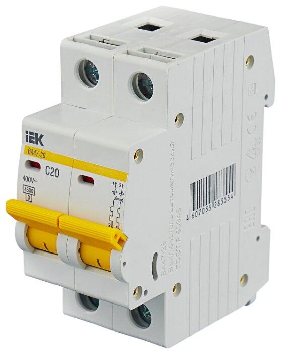 Автоматический выключатель IEK ВА 47-29 2P (C) 4,5kA
