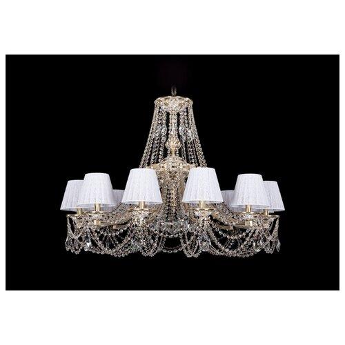 Люстра Bohemia Ivele Crystal 1771 1771/12/340/C/GW/SH13-160, E14, 480 Вт настольная лампа bohemia ivele 7003 1 33 gw sh2 160