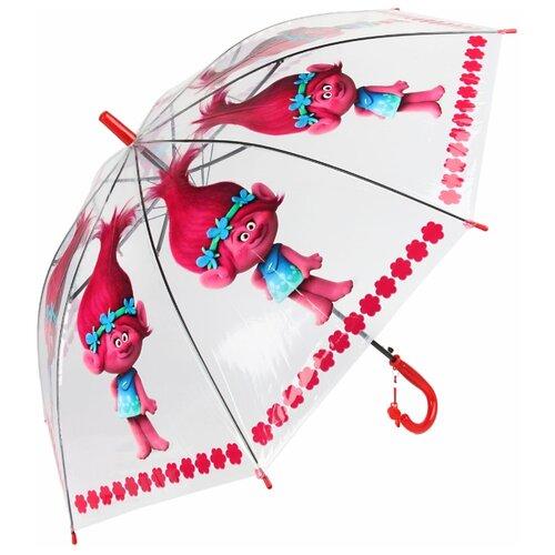 Зонт Amico прозрачный/красный