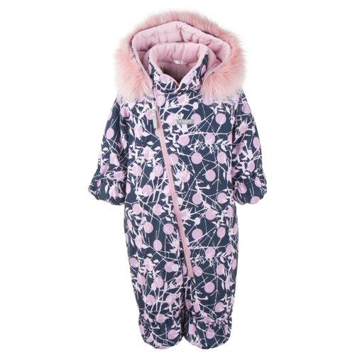 Купить Комбинезон KERRY BERRY K20407 размер 74, 06100 розовые горошки на синем, Теплые комбинезоны