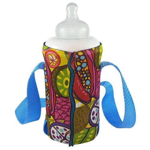 Купить Чехол-держатель для детских бутылочек и банок с широким горлом Сочные фрукты , WOW! GIMPAS, Аксессуары для колясок и автокресел