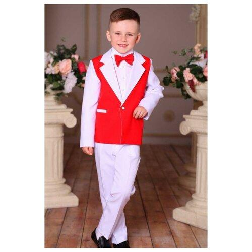 Комплект одежды Liola размер 116, белый/красный комплект одежды liola размер 134 белый красный