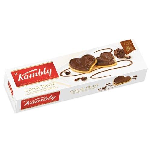 Печенье Kambly Coeur truffe с трюфельной начинкой и горьким шоколадом, 100 г lambertz world cookies munich печенье с шоколадом 100 г