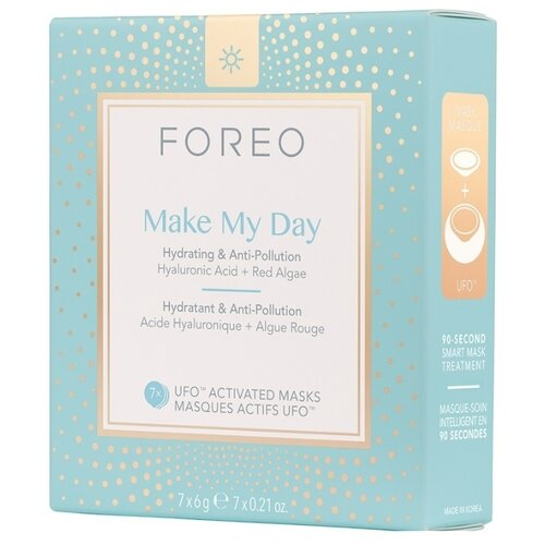 FOREO Make My Day Маска, активированная UFO, 6 г, 7 шт. foreo call it a night ufo activated mask