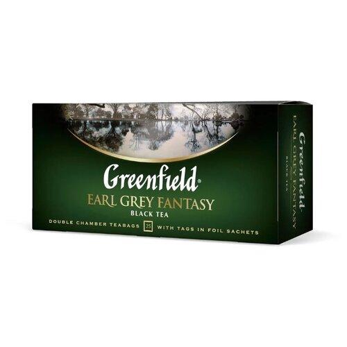 Чай черный Greenfield Earl Grey Fantasy в пакетиках, 25 шт. twinings earl grey tea черный ароматизированный чай в пакетиках 25 шт