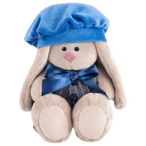 Купить Мягкая игрушка Зайка Ми в сером комбинезоне с синим беретом 15 см, Мягкие игрушки