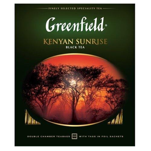Чай черный Greenfield Kenyan Sunrise в пакетиках, 200 г 100 шт. greenfield english edition черный листовой чай 100 г