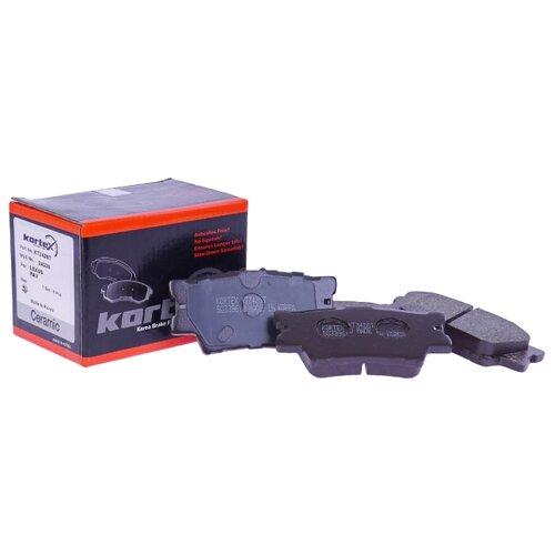 Фото - Дисковые тормозные колодки задние KORTEX KT3426T для Toyota RAV4, Toyota Camry (4 шт.) дисковые тормозные колодки передние nibk pn1521 для toyota camry 4 шт