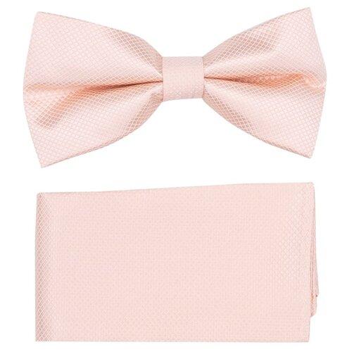 Комплект из 2 предметов OTOKODESIGN галстук-бабочка и платок 537/560 светло-розовый
