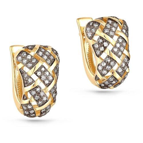 KABAROVSKY Серьги с 112 бриллиантами из жёлтого золота 12-21045-1000