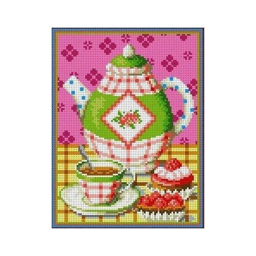 Купить Чаепитие Рисунок на ткани 19х25 Каролинка ТКБЛ 4018, Канва