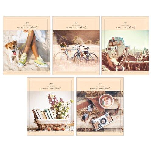 Купить ArtSpace Упаковка тетрадей Стиль. More weekend Т48к_18854, 10 шт./5 дизайнов, клетка, 48 л., Тетради