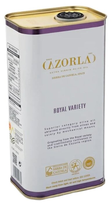 Cazorla Масло оливковое Royal Extra Virgin, жестяная банка