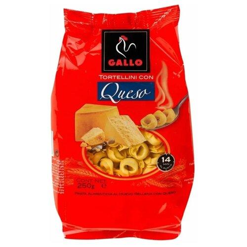 Gallo Макароны Tortellini con Quesa с начинкой из твердого сыра пшеничные, 250 г gallo макароны integral plumas rayadas перья 500 г