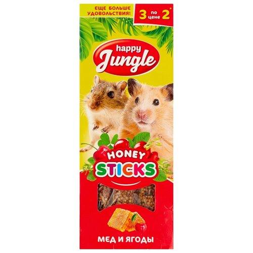 Лакомство для грызунов Happy Jungle Honey sticks Мед и ягоды