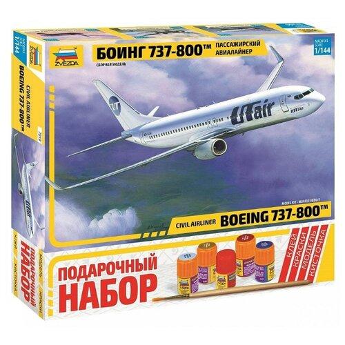 Купить ZVEZDA Сборная модель Пассажирский авиалайнер Боинг 737-800, подарочный набор, Сборные модели