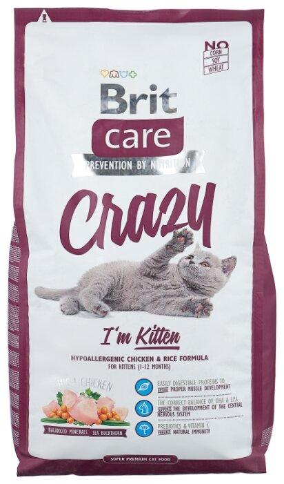 Корм для котят Brit Care Crazy с курицей — купить по выгодной цене на Яндекс.Маркете