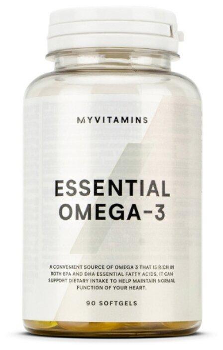 Купить Омега жирные кислоты Myprotein Essential Omega-3 (90 капсул) нейтральный по низкой цене с доставкой из Яндекс.Маркета