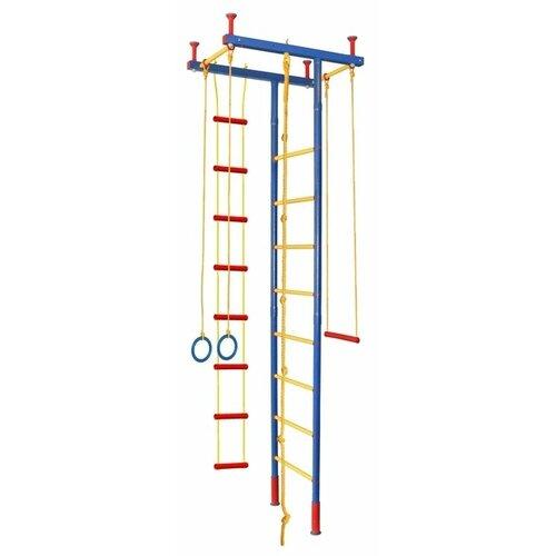 Купить Шведская стенка Леко гп030251, синий/желтый/красный, Игровые и спортивные комплексы и горки