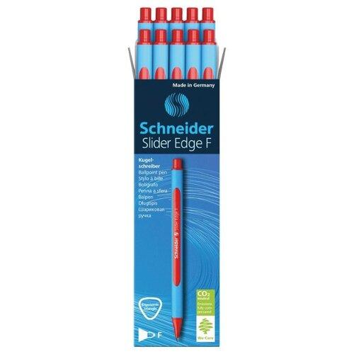 Купить Schneider Набор шариковых ручек Slider Edge F, 0.8 мм, 10 шт., красный цвет чернил, Ручки