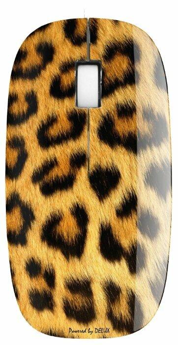 Мышь Delux DLM-111OUL Brown USB