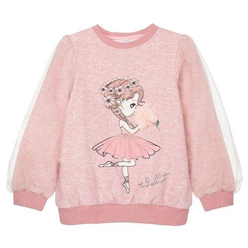 Купить Свитшот playToday размер 116, светло-розовый, Толстовки