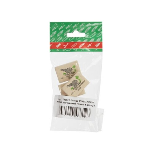 Купить KOH-I-NOOR Набор ластиков 300/60, 4 шт, Ластики