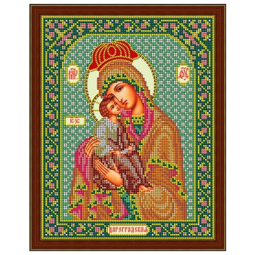 Купить Набор для вышивания бисером Икона Божией Матери «Цареградская» 20 x 26 см И064, Galla Collection, Наборы для вышивания