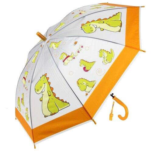 Зонт Amico белый/оранжевый