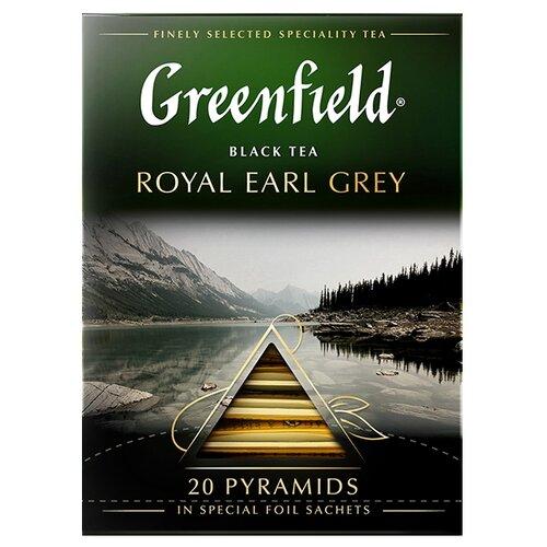 Чай черный Greenfield Royal Earl Grey в пирамидках, 20 шт. чай черный greenfield sicilian citrus в пирамидках 20 шт