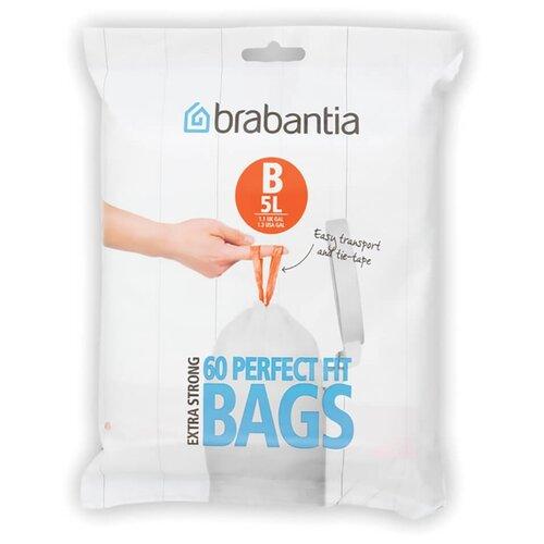 Мешки для мусора Brabantia Perfect Fit Bags B 5 л, 60 шт., белый
