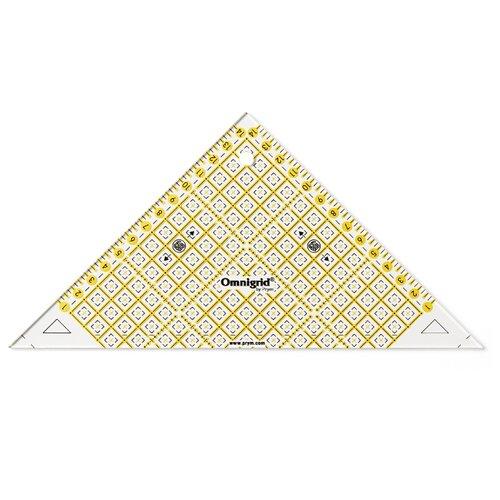 Купить Prym Omnigrid Линейка для пэчворка Проворный треугольник 611314, 15 см прозрачный, Инструменты и аксессуары