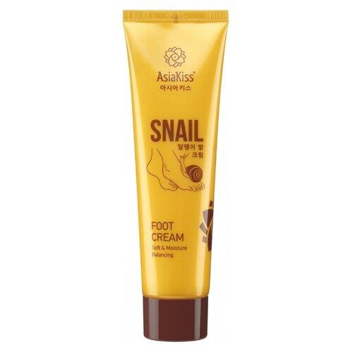 Купить Asiakiss Крем для ног с муцином улитки Snail Foot Cream 100 мл туба