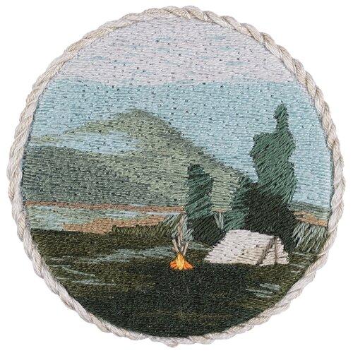 Купить PANNA Набор для вышивания гладью Брошь. Вечерний костер 5.5 x 5.5 см (JK-2187), Наборы для вышивания