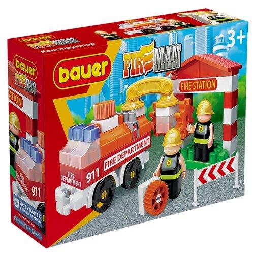 Купить Конструктор Bauer Fireman 739 Пожарная машина и пожарный гидрант, Конструкторы