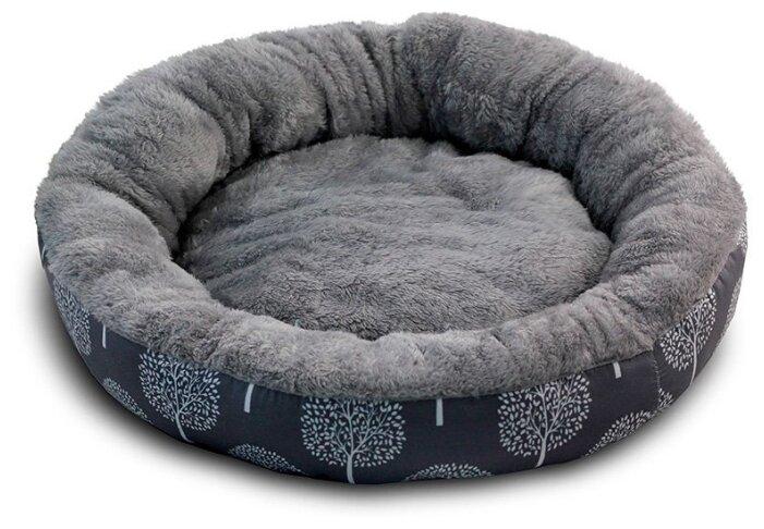 Лежак для кошек, для собак Triol Сказочный лес M круглый (31931041) 63х63х11 см