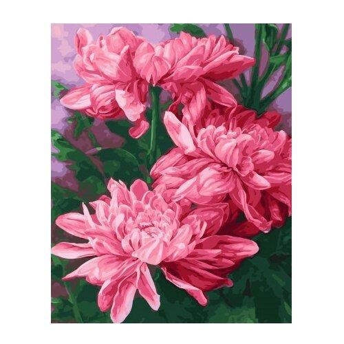 Купить ВанГогВоМне Картина по номерам Три розовых пиона , 40х50 см (ZX 22155), Картины по номерам и контурам
