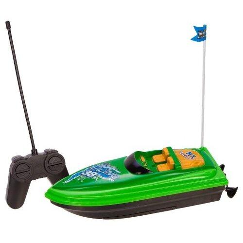 Купить Катер Yako Солнечное лето (M6529) 21 см зеленый, Радиоуправляемые игрушки